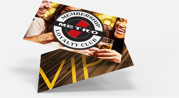 metro billiards loyalty membership card